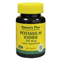 Natures Plus Potassium Iodide - 150 mcg, 100 Vegan Tablets - Thyroid Support Supplement, Supports Respiratory Health - Vegetarian, Gluten Free - 100 ()