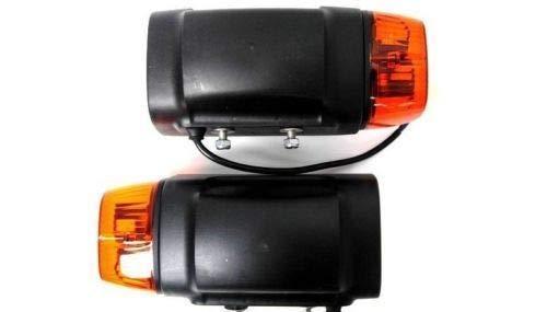 2x Scheinwerfer mit Blinker KOMPLETT f/ür Traktor Bagger Radlader Baumaschinen