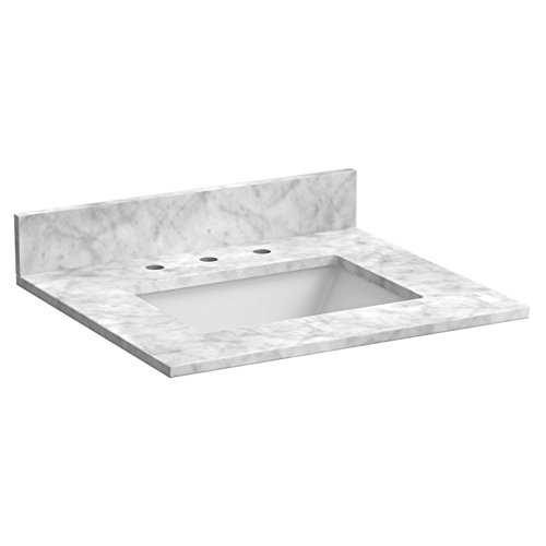 Forg8|#Foremost ST25228CWR 25 Inch Marble Vanity Top In Carrara White (25