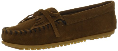 (Minnetonka Women's Kilty Moccasin,Dusty Brown,9.5 M US)
