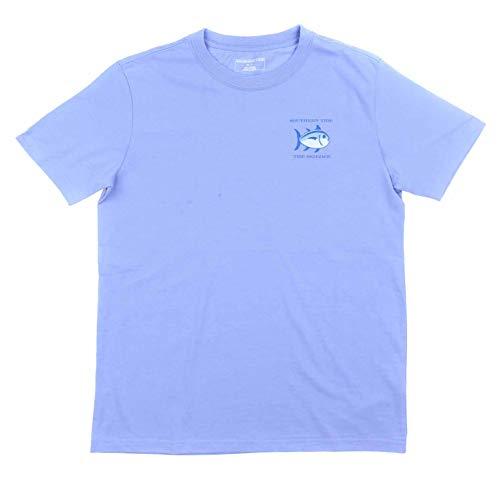 Southern Tide Boys Original Skipjack Short Sleeve T-Shirt (Lavender, Small)
