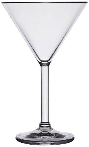 Yanco SM-10-MT Stemware Martini Glass, 10 oz Capacity, 4.75'' Diameter, 7.5'' Height, Plastic, Clear Color, Pack of 24