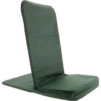 "BackJack Portable Floor Chair - Forest Green - 14"" wide x 21"" tall x 22"" deep"