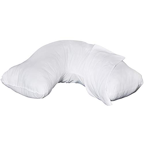 Rose Healthcare Standard Comfort Curve Support Pillow Polyester-Foam w/Poly-Cotton Cover