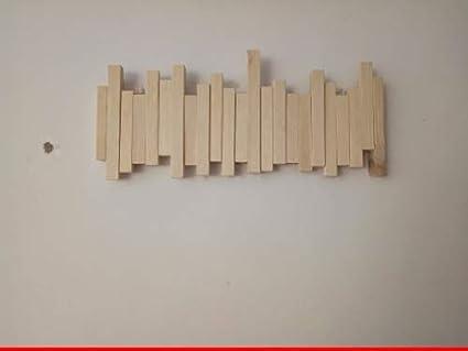 Joeesun Creativo Natural ganchos de madera perchero de pared ...