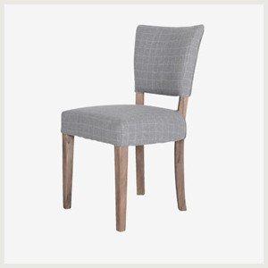 chaise de cuisine en bois grise
