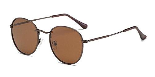 en Lennon du soleil polarisées style retro de rond lunettes cercle Tranche Thé métallique de vintage inspirées wz84STq