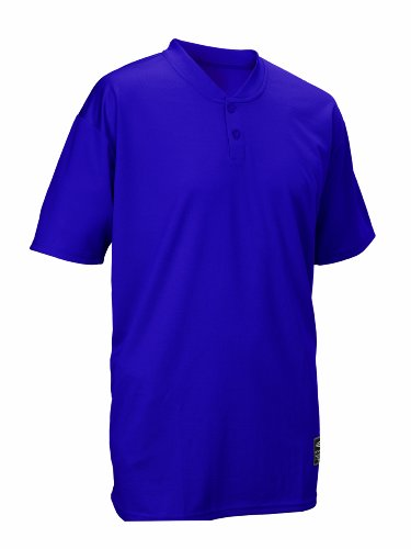 Easton Youth Skinz 2 Button Placket Jersey, Purple, (Polyester Youth Baseball Jersey)
