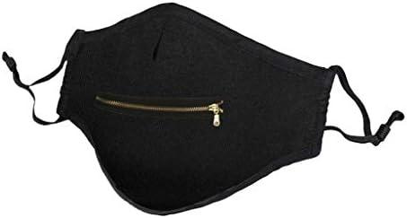 Hingpy Eisseide Reißverschluss Mundschutz Waschbar Atmungsaktiv Staubdicht Leicht zu trinkender Bandana-Schal für Männer und Frauen