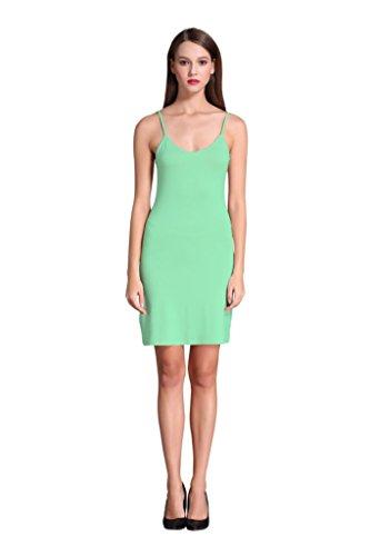 Women Long Spaghetti Strap Full Cami Slip Camisole Under Dress Liner