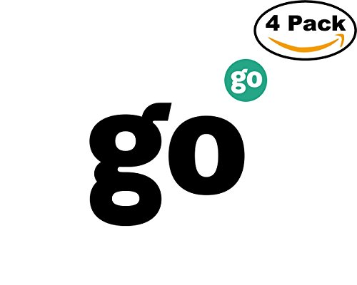 Go Airlines 1 4 Stickers 4X4 inches Car Bumper Window Sticker Decal