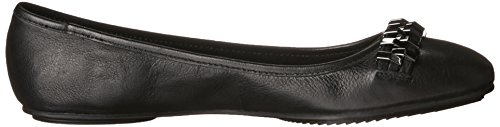 Kenneth Cole New York Femmes Tavin Cuir Noir Plat 7.5 M Us