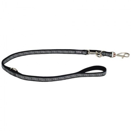 Red Dingo Hypno Black multi-purpose dog leash 6,5ft Large