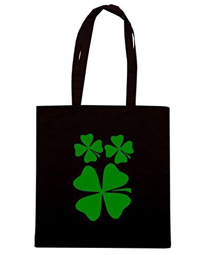T-Shirtshock - Bolsa para la compra FUN0366 528 4 leaf clover decal 62531 Negro