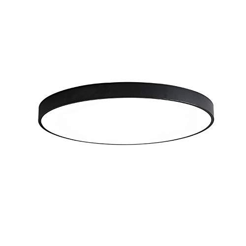 noir-three Couleur lumière 40CM Plafonnier moderne à LED simple, panneau lumineux Iron Art avec télécomhommede, éclairage dimmable pour cuisine, couloir, salle de bain, éclairage de cage d'escalier - noir YZPXDD