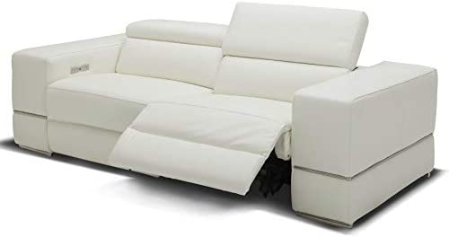 Amazon.com: Modern Luxor Reclining Sofa with Power Headrests ...