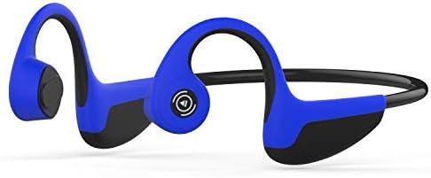 RENKUNDE 骨伝導ヘッドフォンBluetoothミュージックコールスポーツヘッドフォン骨伝導リアマウントスポーツヘッドフォン ゲーミングヘッドセット (Color : Blue)