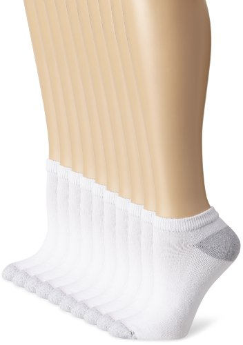 Hanes Women's Big-Tall Low Cut Extended Size Sock, White, Sock Size 10-12/Shoe Size 8-12 (Pack of 10) from Hanes