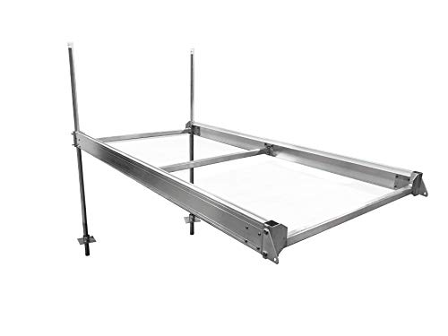 Multinautic - QP-427 - 4' x 8' Complete Aluminum Stationary Dock Kit | Boat Dock and Swimming Platform| Ultralight and Durable | Easy to Store | Easiest to Assemble on - Dock Stationary