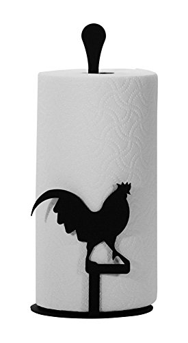 Wrought Iron Counter Top Rooster Paper Towel Holder