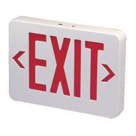 (Emergi-Lite ELX400RN Thermoplastic Exit Sign - Ac-Only Red Led'S)