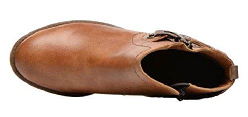 11sunshop Læderstøvler Farverige Model Af Britney Hgilliane Design I 33-44 Marron Kun Fods Måling UvBLdH4ost