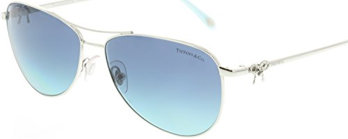 Tiffany & Co Women's TF3044 TF/3044 60014S Silver Fashion Sunglasses - Tiffany Blue Silver And