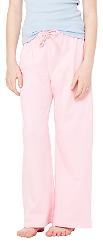 Bella Girl'S 7.5 Oz. Straight Leg Sweatpants, Pink, - Bella Straight Leg Sweatpants
