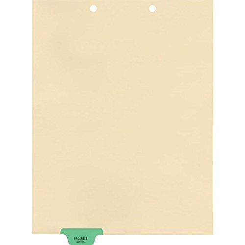 Medical Arts Press Match Colored End Tab Chart Dividers- Progress Notes, Position 2 (100/Pkg) (56805)