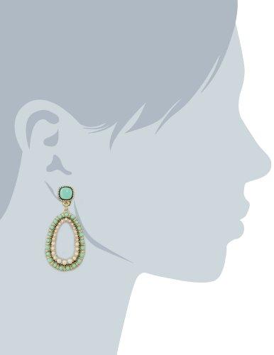 """Carolee """"Little Surfer Girl"""" Large Drop Clip-On Earrings"""