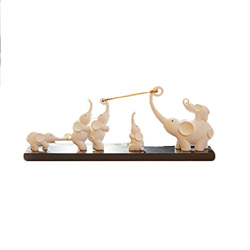 (Sculpture Creative Elephant Ornaments Home Decorations Modern Minimalist Living Room TV Cabinet Wine Cabinet Moved to New Home Gift Display LQX)