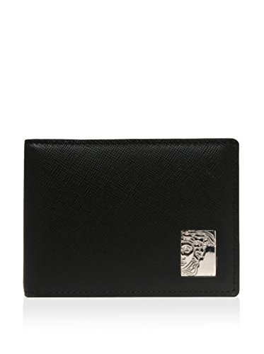 Versace Men's Leather Wallet, Black