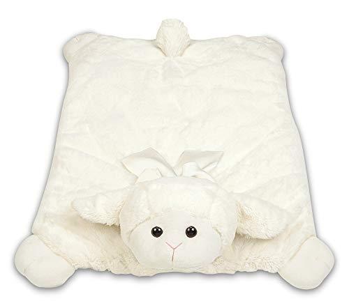 Bearington Baby Plush Belly Play Mat Lamby Plush (Lamby Rug)