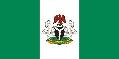State Flag of The Federal Republic of Nigeria | Landscape Flag | 1.35m² | 14.5sqft | 80x160cm | 30x60inch - 100% Made in Germany - Long Lasting Outdoor Flag ()