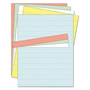 Bi-Silque Visual Communication Products Inc Data Card Replacement Sheet, 8 1/2 x 11 Sheets, Assorted, 10/Pack (8 Pack)