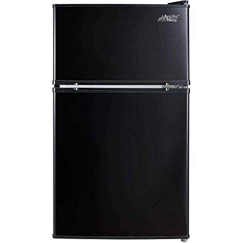 Arctic King – [ATMP032AEB] 3.2 Cubic Feet Two Door Mini Refrigerator with Freezer, Black