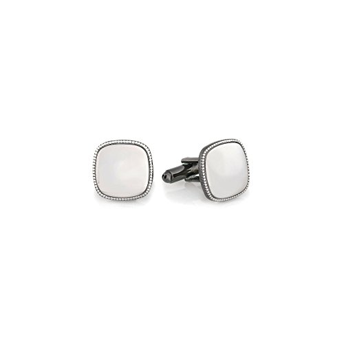 (Studs Galore Polished Gun Metal Cufflinks in Stainless Steel with 23K Gold & Rhodium Electroplating)
