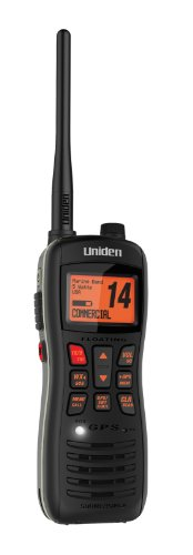 Uniden MHS235 Handheld Submersible 2-Way 5W Digital Selective Calling (DSC) Marine Radio - Black