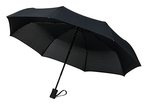 Crown Coast Unisex Adult Umbrellas Compact Windproof 60 MPH Outdoor 8 Rib Travel Umbrella, Multiple Color Choices