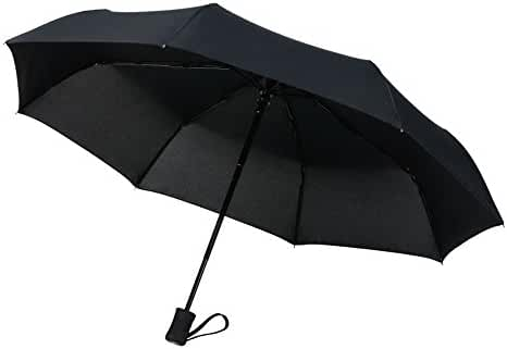 CrownCoast 60 MPH Windproof 8-Rib Compact Travel Umbrella
