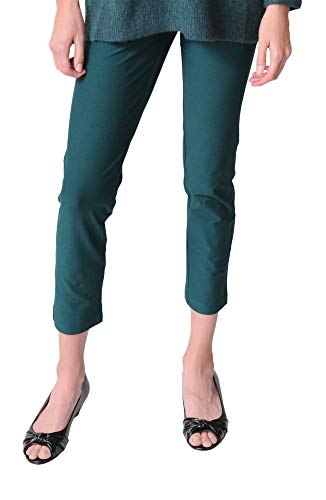 Eileen Fisher Pant - Stretch Crepe Slim Ankle (Extra Small, Pine) ()