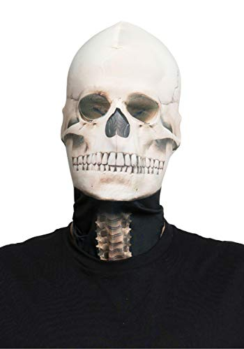 Faux Real Unisex-Adult's Skeleton Mask, White, One Size