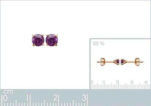 ISADY - Matilda Gold 4 - Boucles d'oreille - Plaqué or jaune 18K - Clous d'oreille - Oxyde de zirconium