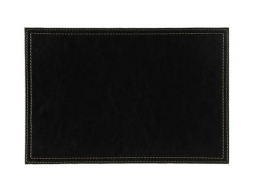 Denby Faux Leather Placemat Set, Set Of 4, Black