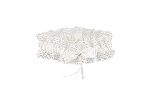 AISLE STYLE Rustic Lace Wedding Garters Ivory for Bride's Gift