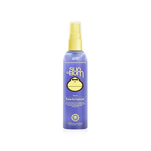 Sun Bum Blonde Tone Enhancer|Color Enhancing Blonde Leave In Hair Treatment Spray|Hydrating Argon Oil for Silkly Smooth Hair|Sulfate Free|4 FLozSpray ()