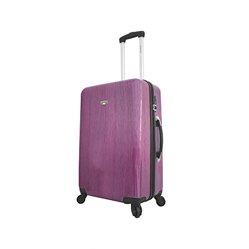 Viaggi Murano Hardside 24 Inch Spinner, Pink, One Size (Murano Suitcase)