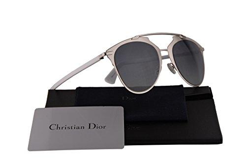 Christian DiorReflected Sunglasses Palladium White w/Blue Grey Gradient Lens 52mm 85LHD DiorReflecteds DiorReflected/s Reflected/s Dior ()