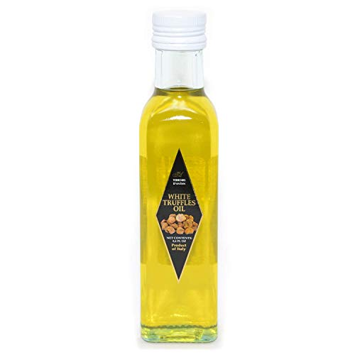 Terroirs D'antan White Truffle Oil - 8.4 oz - Extra Virgin Pure Olive Oil Cold Pressed from Italy - Vegan, Non-GMO, No MSG ()