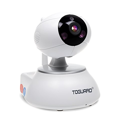 Toguard Wireless IP Camera WiFi Baby Monitor Home Security Surveillance Nanny Cam Video Recorder Night Vision Pan/Tilt PTZ Cam Two way Talk